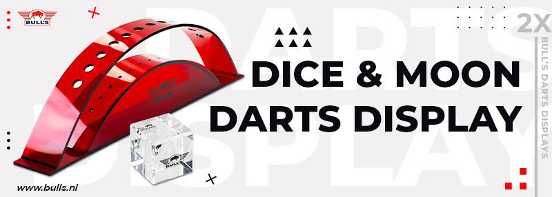 Bulls Darts Display Moon & Dice